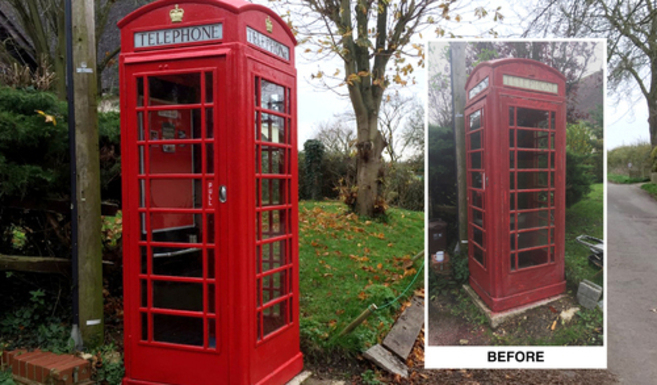 Renovated phone box (cropped)